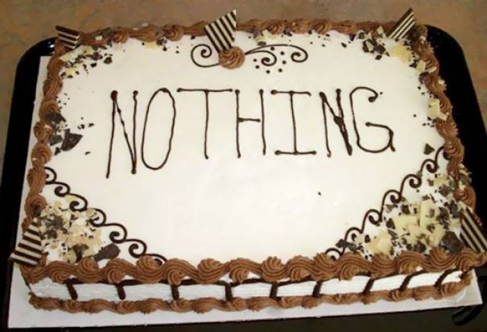2. She told him to write nothing on the cake