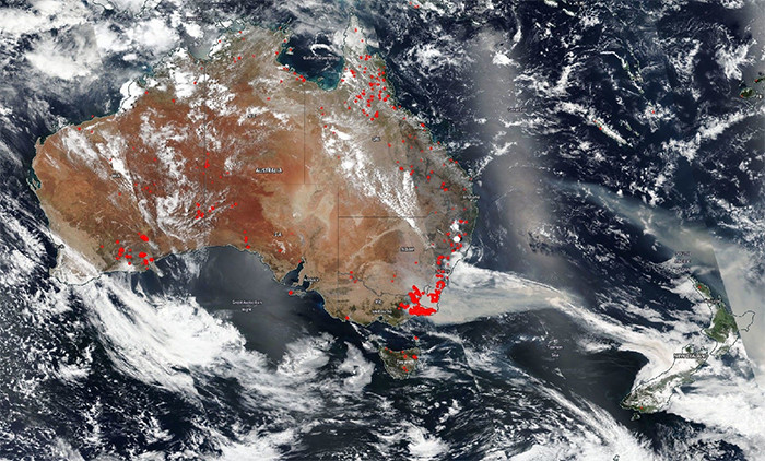 The Himawari-8 satellite captures images of the western part of the Earth once every 10 minutes.