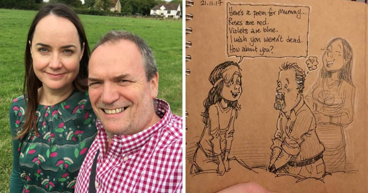 Disney Animator Draws Pictures On What It's Like Living Without His Wife And His Story Will Bring You To Tears