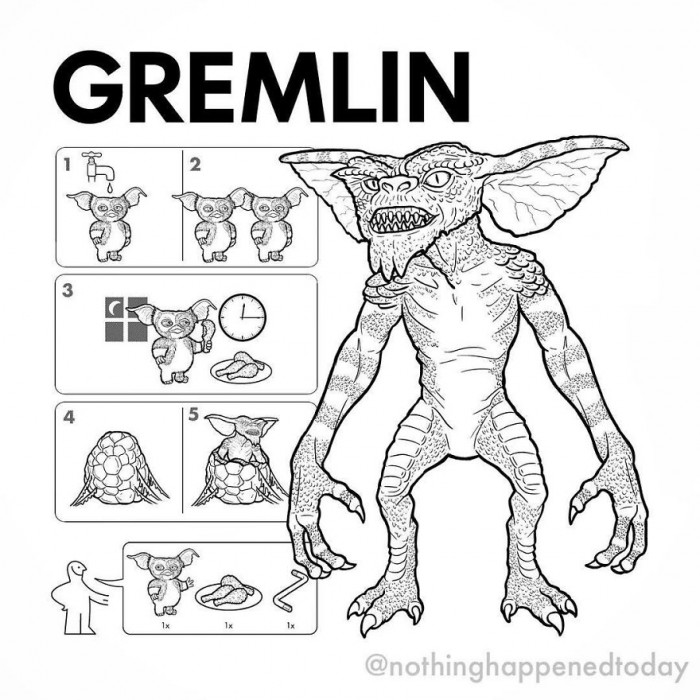 5. Gremlin, but for real, this freaks out the child in me.