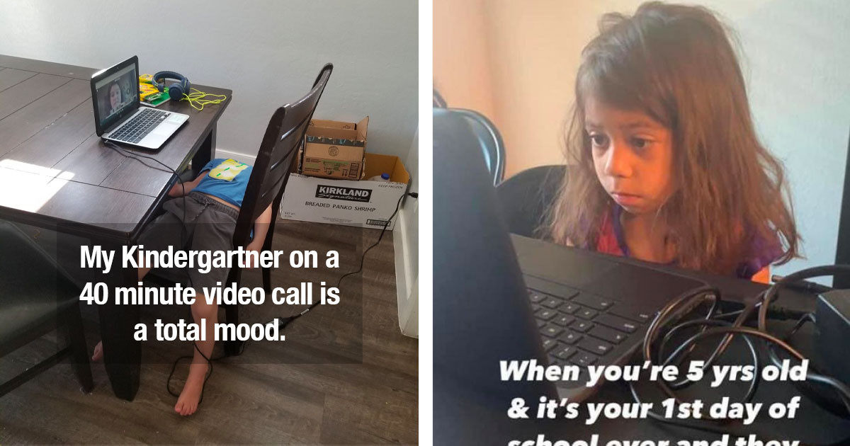 11 Posts Of Kids Struggling With Online Learning That Are Relatable AF