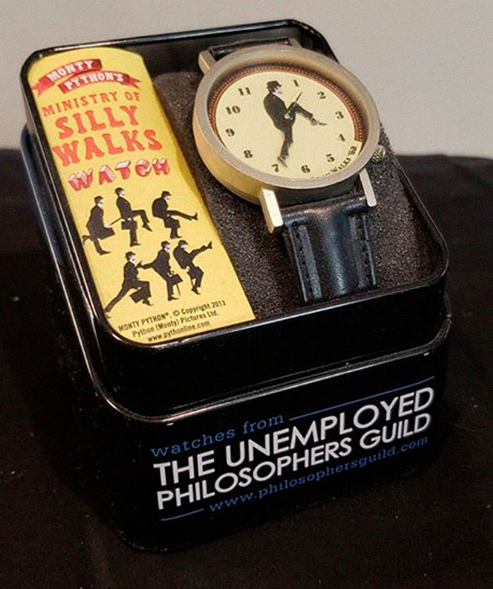 3. A watch that apparently makes you walk 'silly'.
