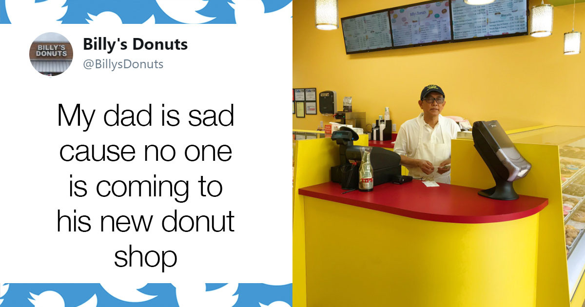 Family Donut Store Gets Viral Promotion After Son Posts that Father is Sad About Small Turnout