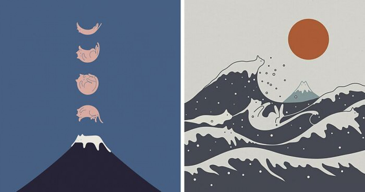 The Coolest, Modern, Minimal Cat-Artwork For The Cat Lover Who Isn't Boring