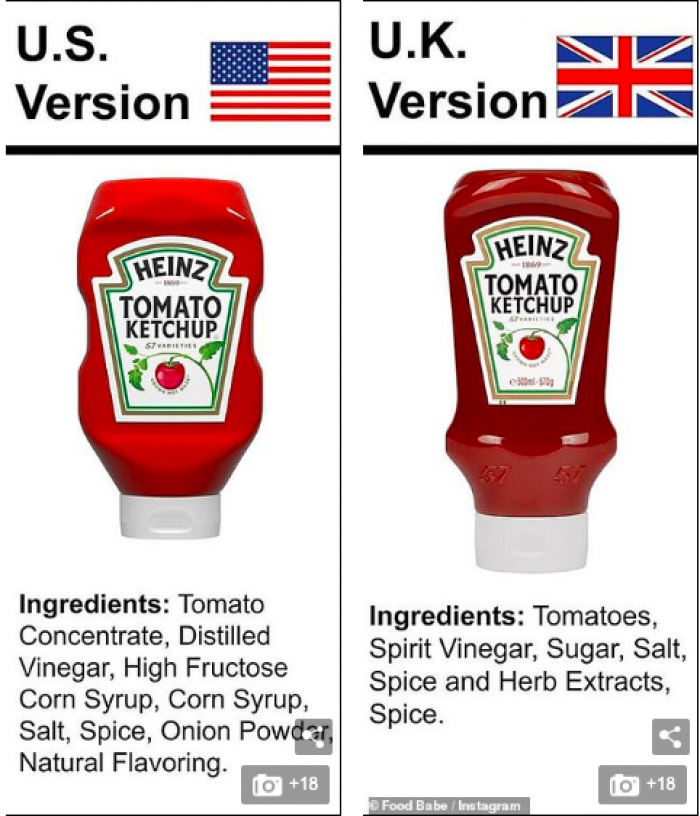 Heinz Tomato Ketchup... Why is the U.S. so obsessed with high fructose corn syrup?!