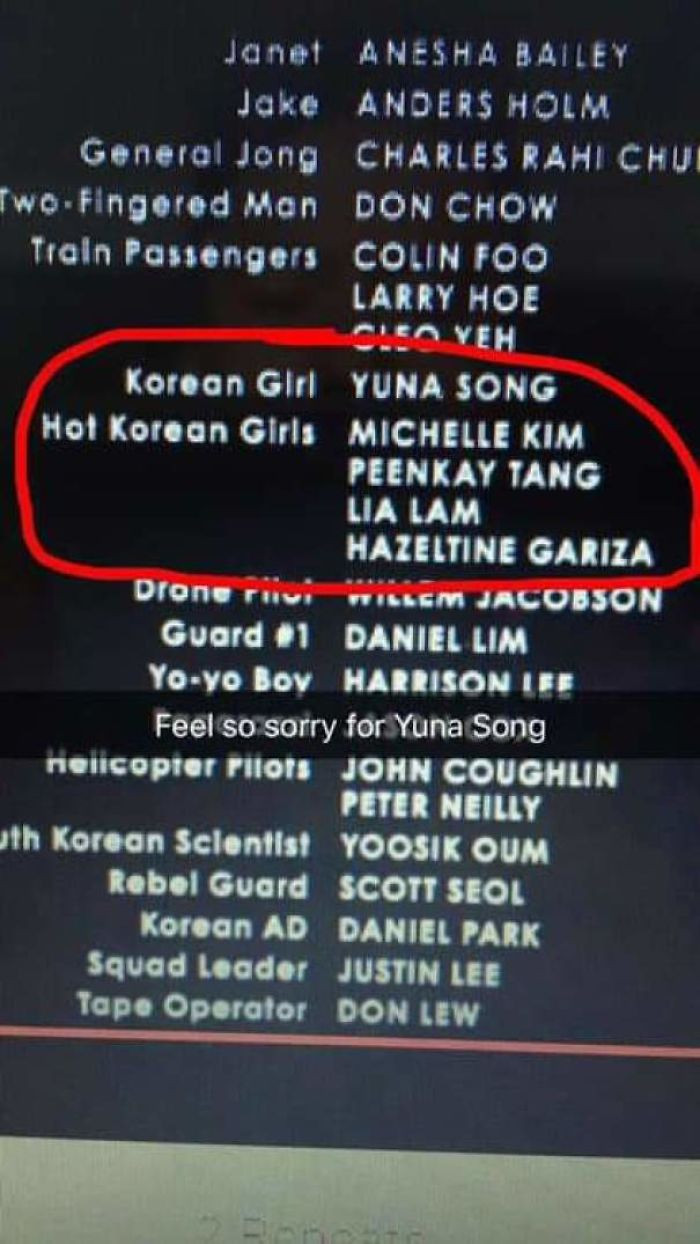 #35 Imagine Getting Your Name Excluded Like This In A Movie Credit Scene