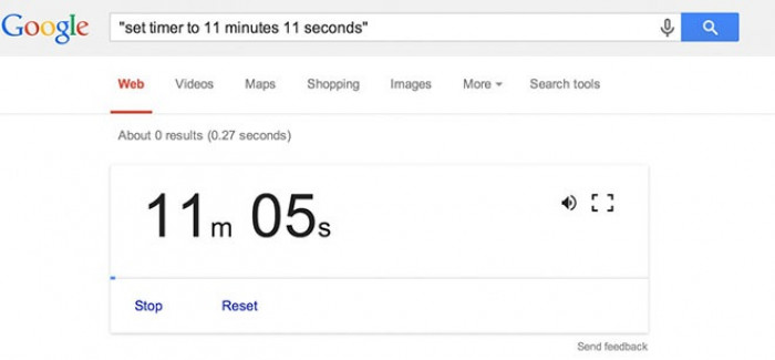 1. Google can be a timer