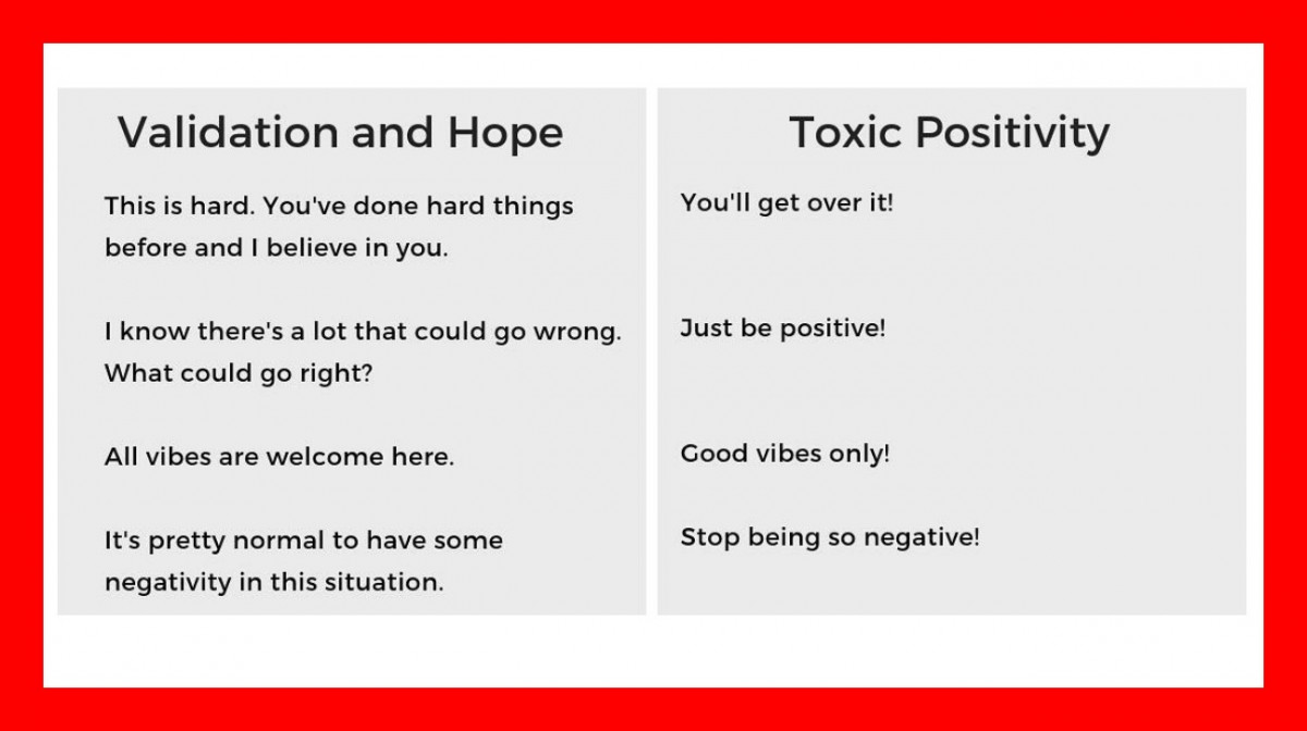 Not Knowing The Difference Between Support And Toxic Positivity Could Be Doing More Harm Than Good