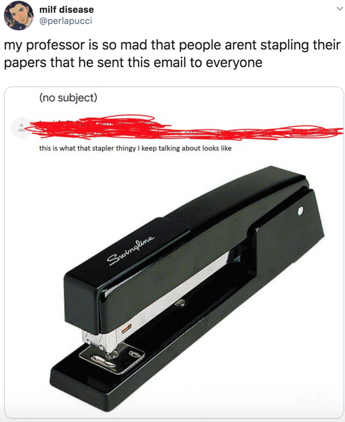 19. This professor explains what that stapler thingy is