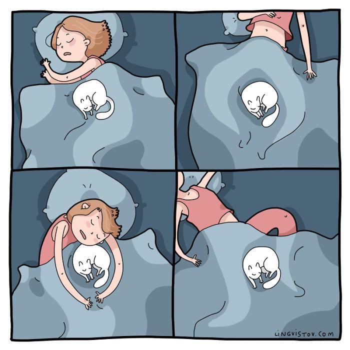 7. Uncomfortable sleeping positions