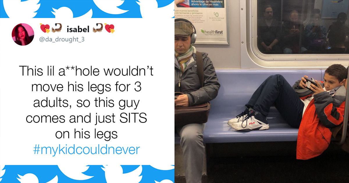 This Kid Got A Rude Awakening When He Refused To Move His Legs For Fellow Subway Passengers