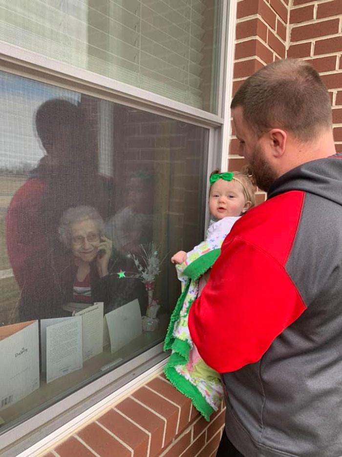 #15 Grandkids making sure their Grandparents got to meet their great Grandchildren!