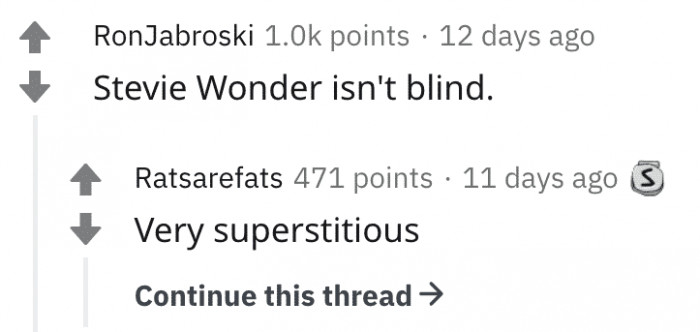 HIGHLY, HIGHLY SUPERSTITIOUS