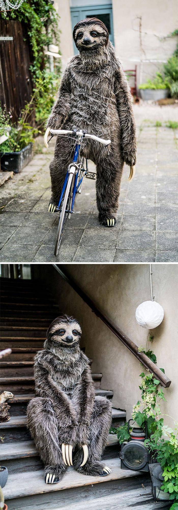 #1 I Created A Realistic Sloth Costume