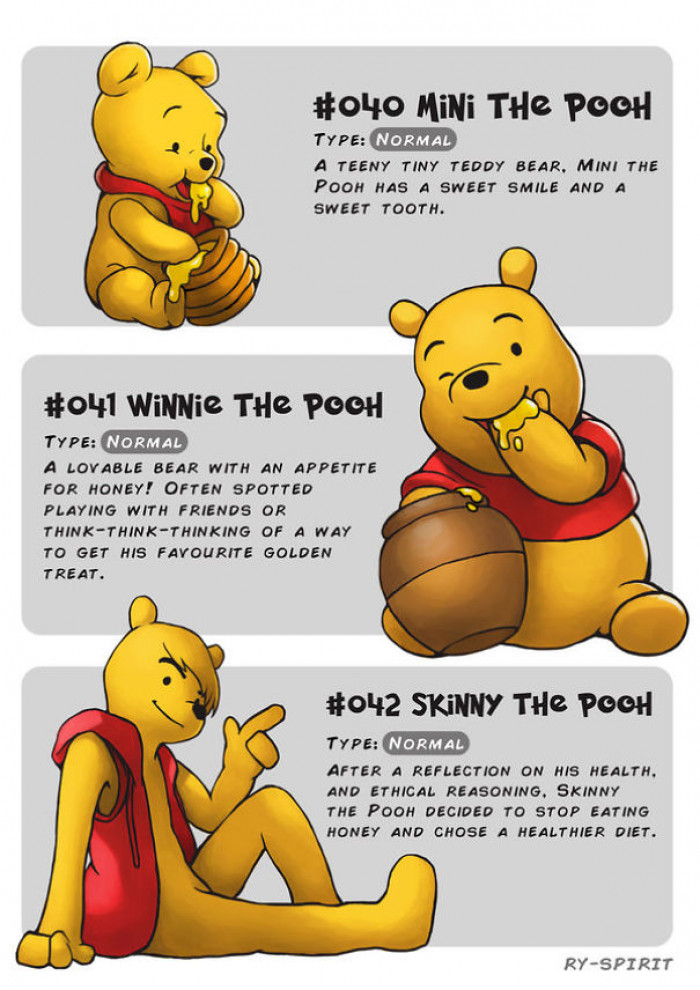 6. Mini the Pooh, Winnie the Pooh and Skinny the Pooh