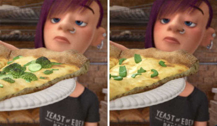 'In Inside Out, The Pizza Toppings Were Changed From Broccolis To Bell Peppers In Japan, Since Kids In Japan Don't Like Bell Peppers. Pixar Localised The Joke.'