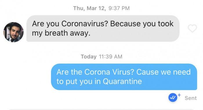 17. Quarantine for him.