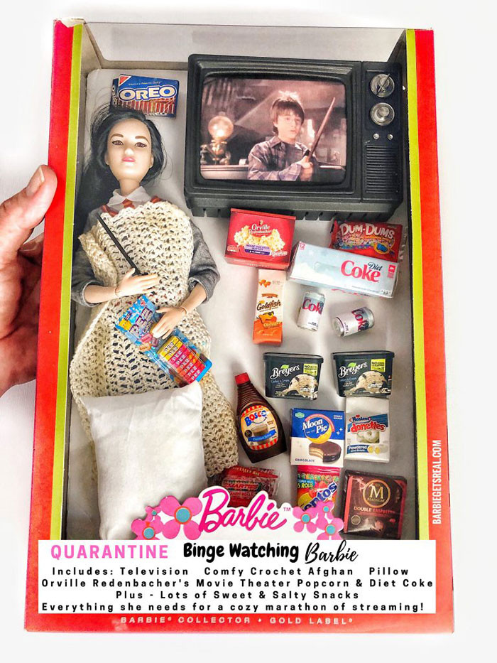9. Quarantine Binge Watching Barbie