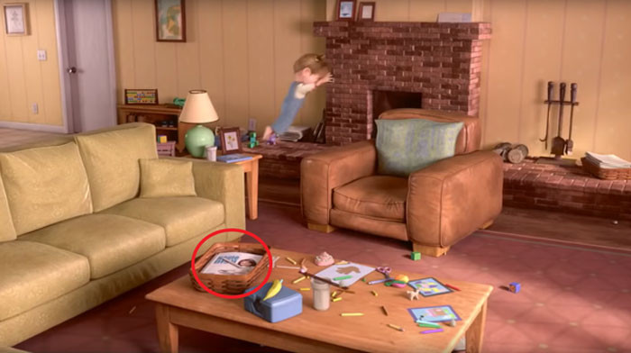 'A Magazine In Riley's Living Room Features Colette From Ratatouille On The Cover.'