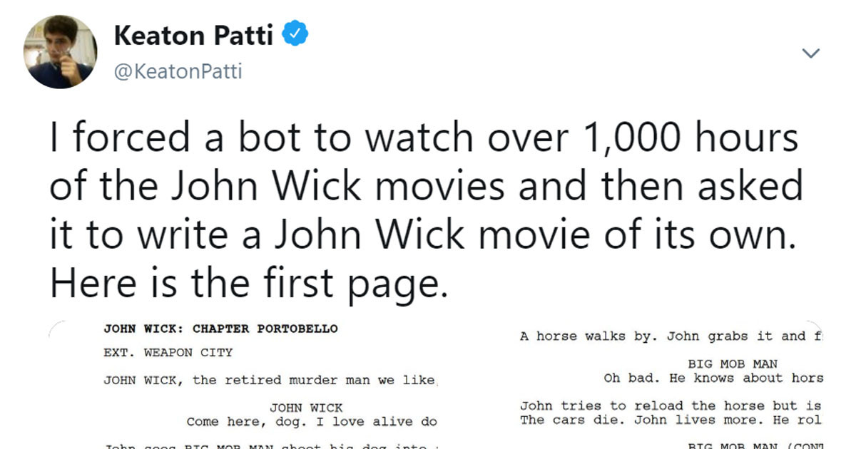 Comedian Uses Bot To Write John Wick Script And The Results
