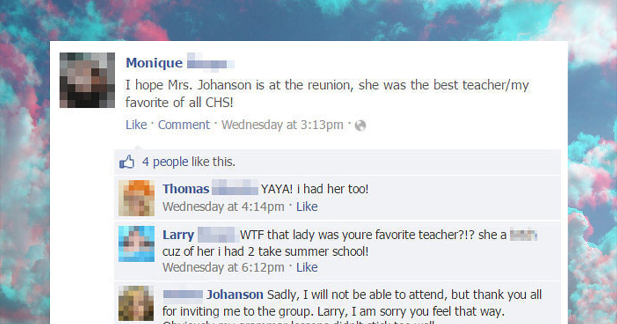 Teacher Roasts Rude Ex-Student Who Was Rude To Her On Facebook and She Wins The Internet