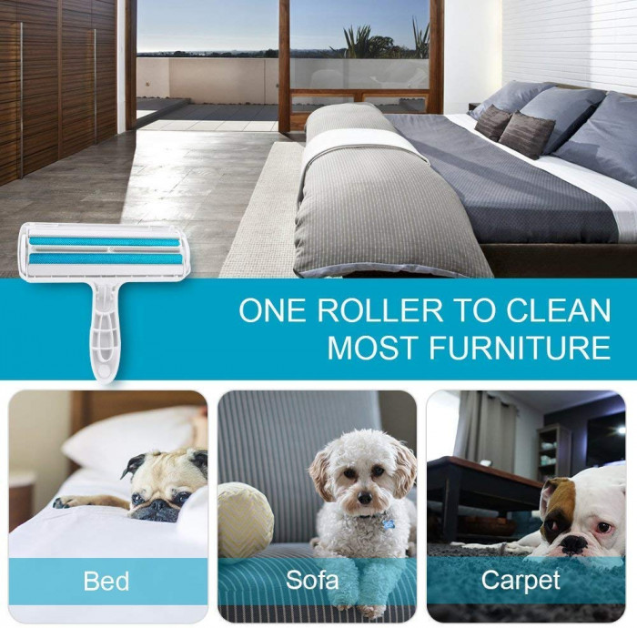 This reusable pet hair roller is perfect for furniture