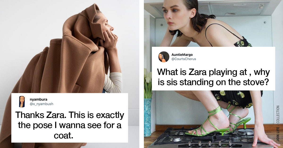 Zara Models And Their Incredibly Unusual Poses Add A Hilarious Aspect To Online Shopping