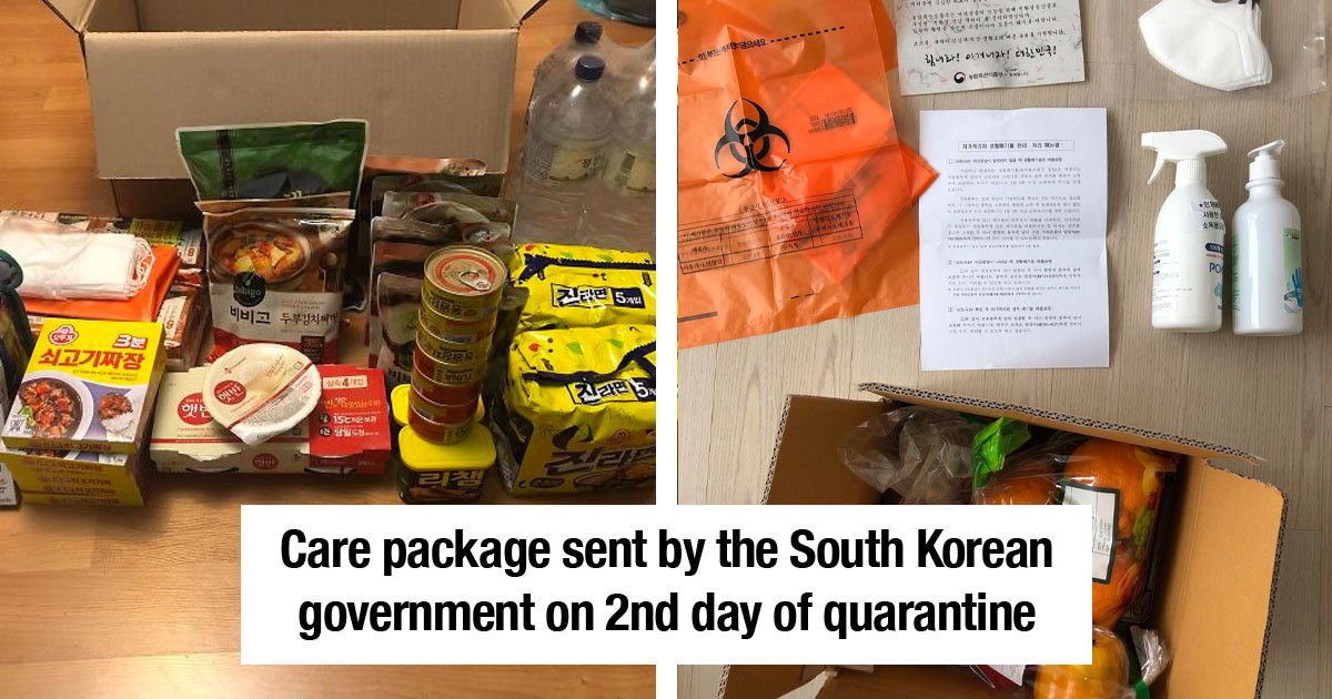 South Korean Government Looks After Their Quarantined Citizens With An Incredible Comfort Package