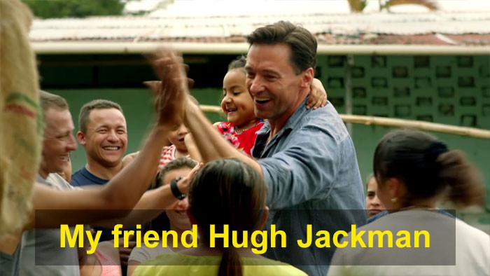To highlight his dear friend, Hugh Jackman.