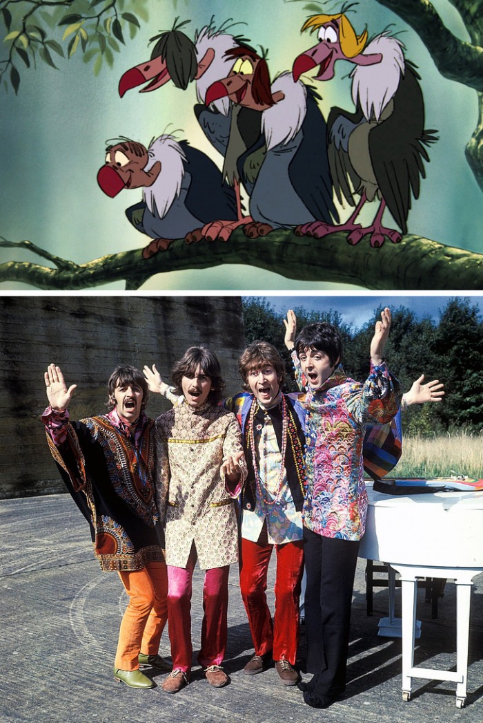 The 4 vultures — The Beatles