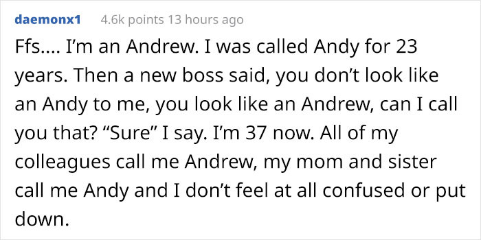 No confusion for this Andy!