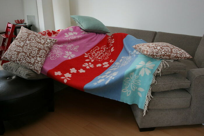 15. My sister visited once and scolded me for letting my children take our couch cushions off the couch to make a fort. That's the last thing I was worried about with three kids under 7 years old!