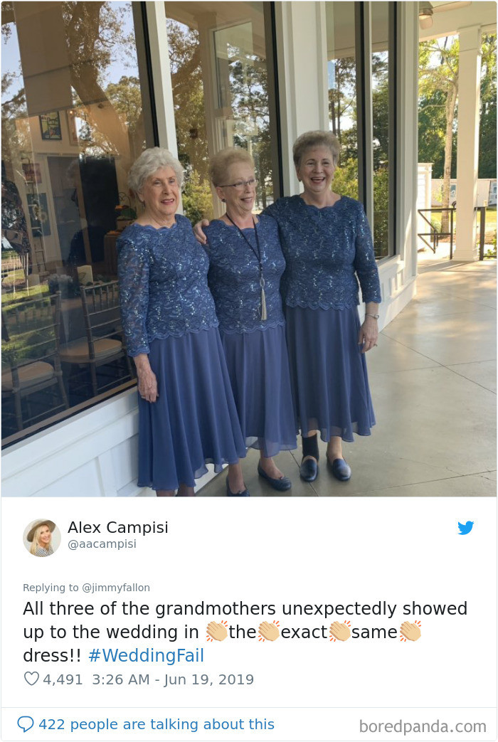There always has to be SOMEONE that wears the same dress...
