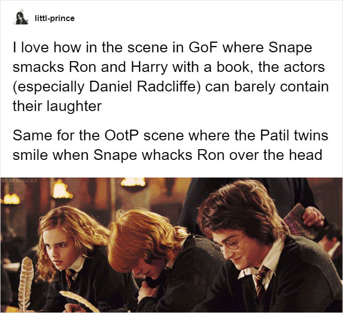 Snape has them laughing...