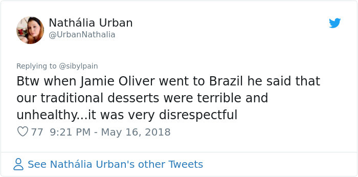 Also no one told Jamie Oliver to do some cultural sensitivity training? Or just... not be a rude person??