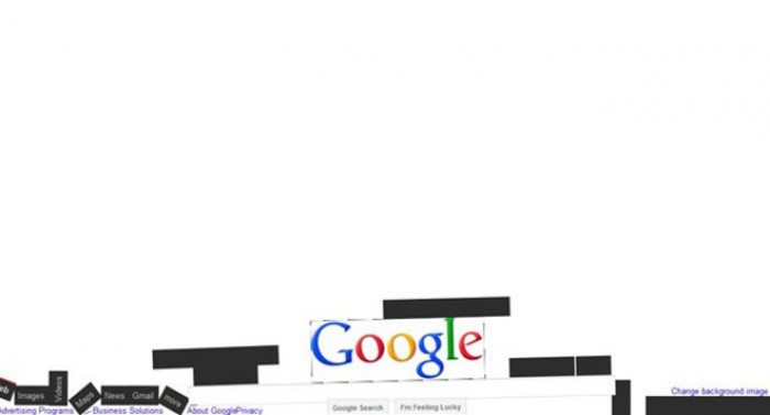 """4. If you type """"Google gravity"""" or click """"I'm feeling lucky"""" - interesting things happen"""