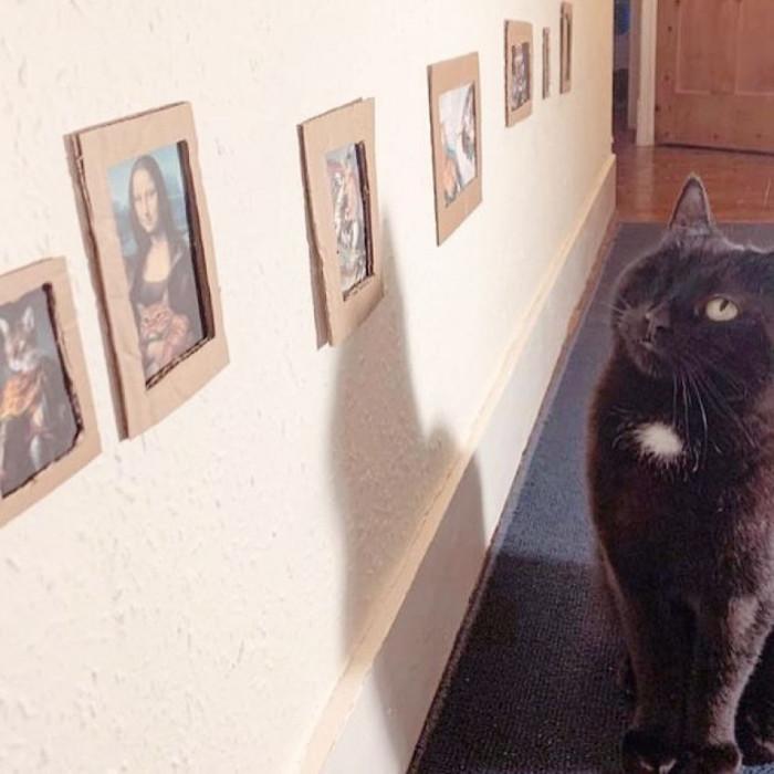 The gallery features the Mona Lisa by Leonardo da Vinci