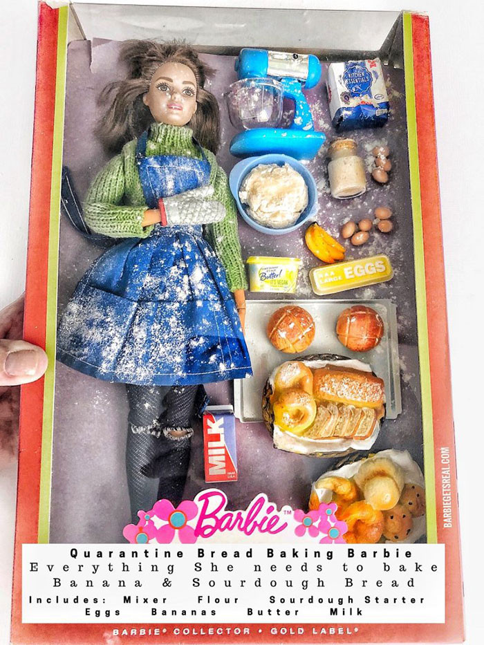 4. Quarantine Bread Baking Barbie