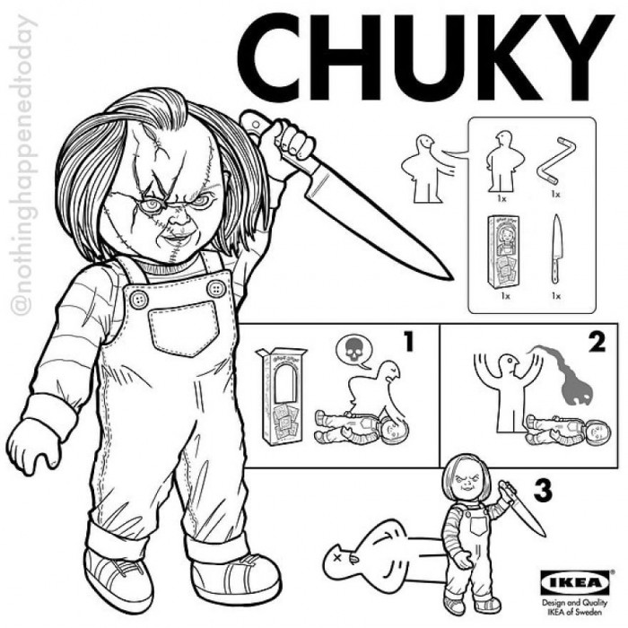17. Chucky, would you be his bride?