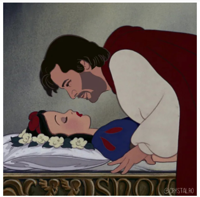 Keanu giving Snow White the kiss she's been waiting for!