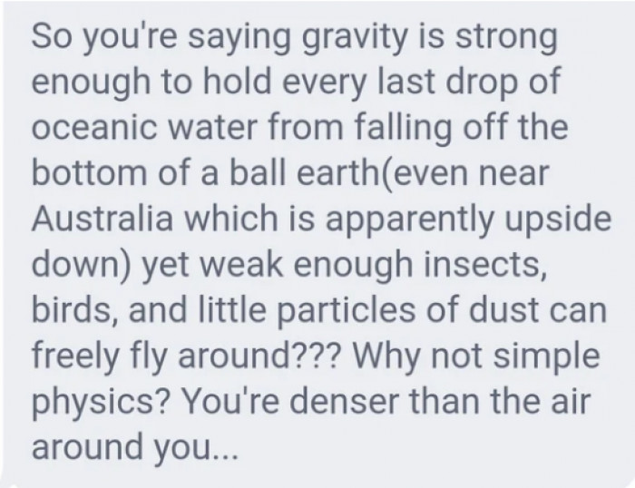 Gravity is also fake.