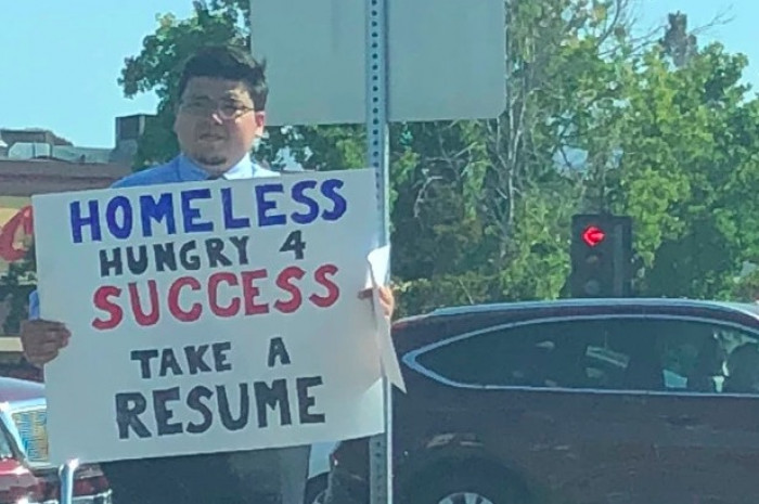 A clever sign and a viral tweet have changed David's life completely!