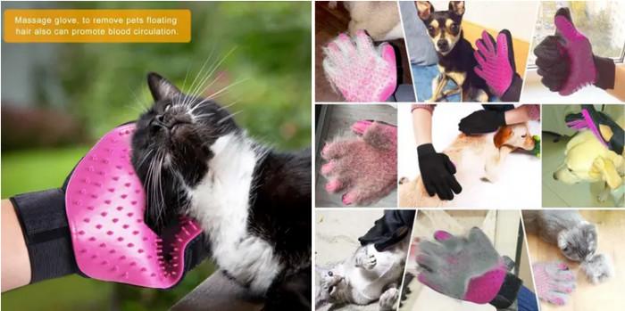 17. Massaging Pet Groomer Glove
