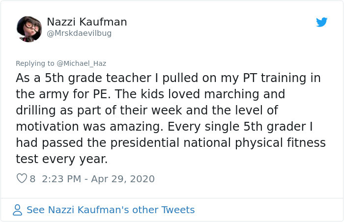 Even other PE teachers chimed in: hey, you may think this is funny but it works.