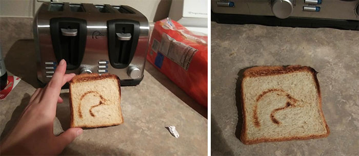 Imagine having no idea that your toaster left a mark on your bread until you first made toast.