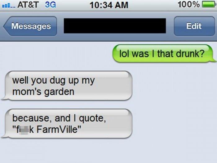 8. Yeah man, f**k Farmville