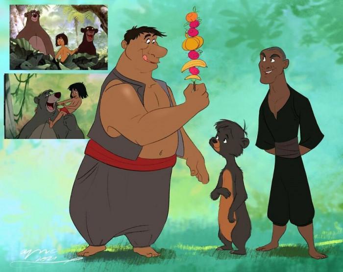 22. Balu, Bagheera & Mowgli