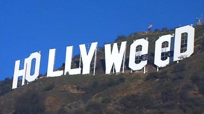#27 Prankster Alters Iconic Hollywood Sign To Read 'Hollyweed' As New Marijuana Law Begins In California