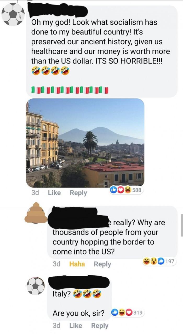 12. Italy, man, not Mexico.