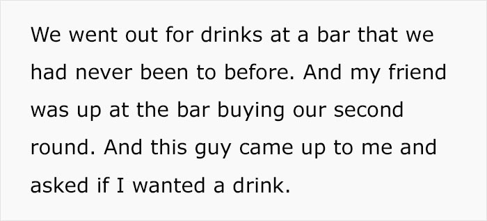 Being hit on at a bar by a man
